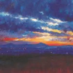 Gifts cards lomond art the lomonds sunset greeting card m4hsunfo