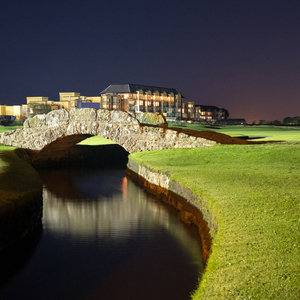 The Old Course at night